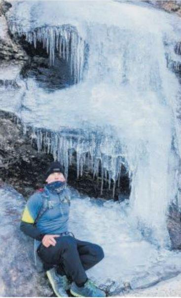 Cascade de glace à Verghju