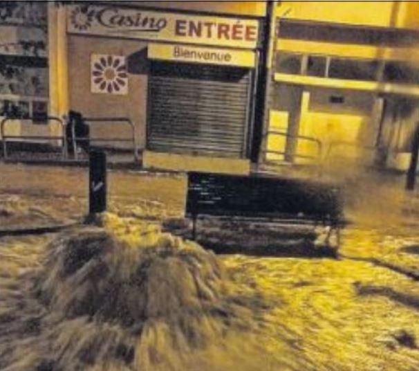 Des orages violents et des inondations frappent l'île-Rousse