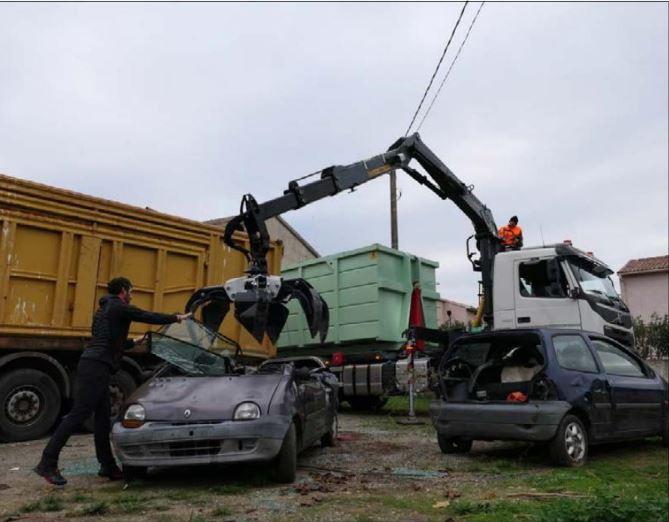 ROGLIANO  Opération enlèvement des épaves sur la commune