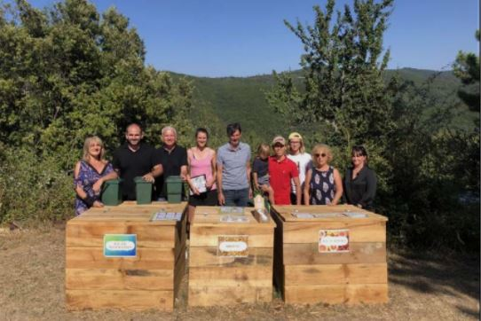 U PETROSU  La commune inaugure deux composteurs partagés