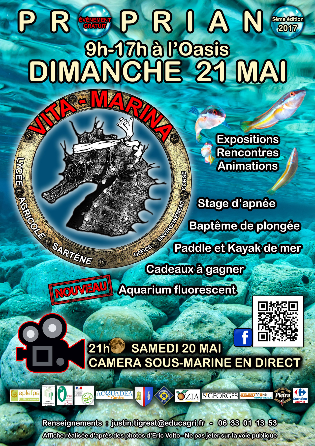Vita Marina 2017, à Propriano les 20 et 21 mai : Exposition mer Méditerranée