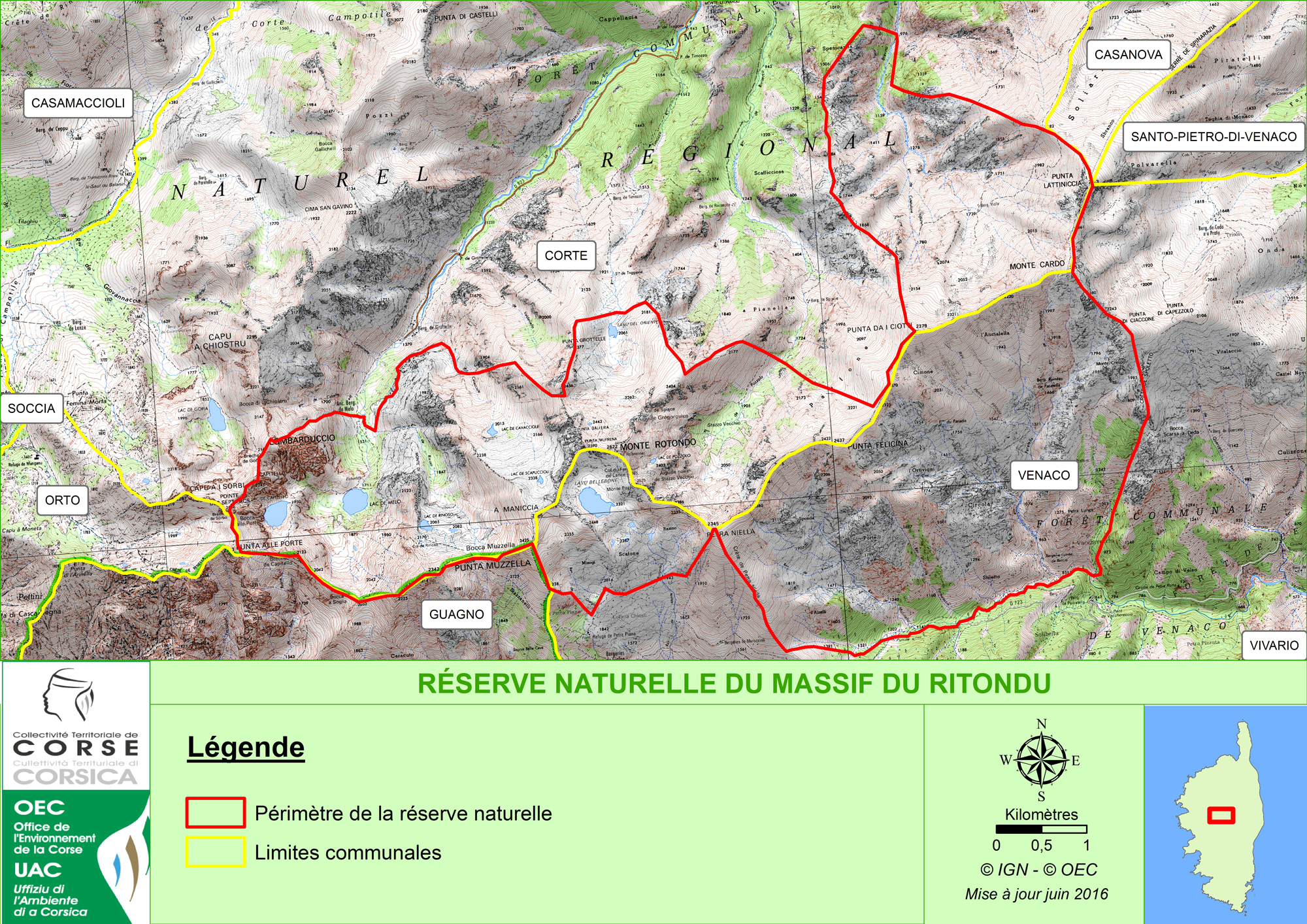 Création de la réserve naturelle du massif du monte Ritondu