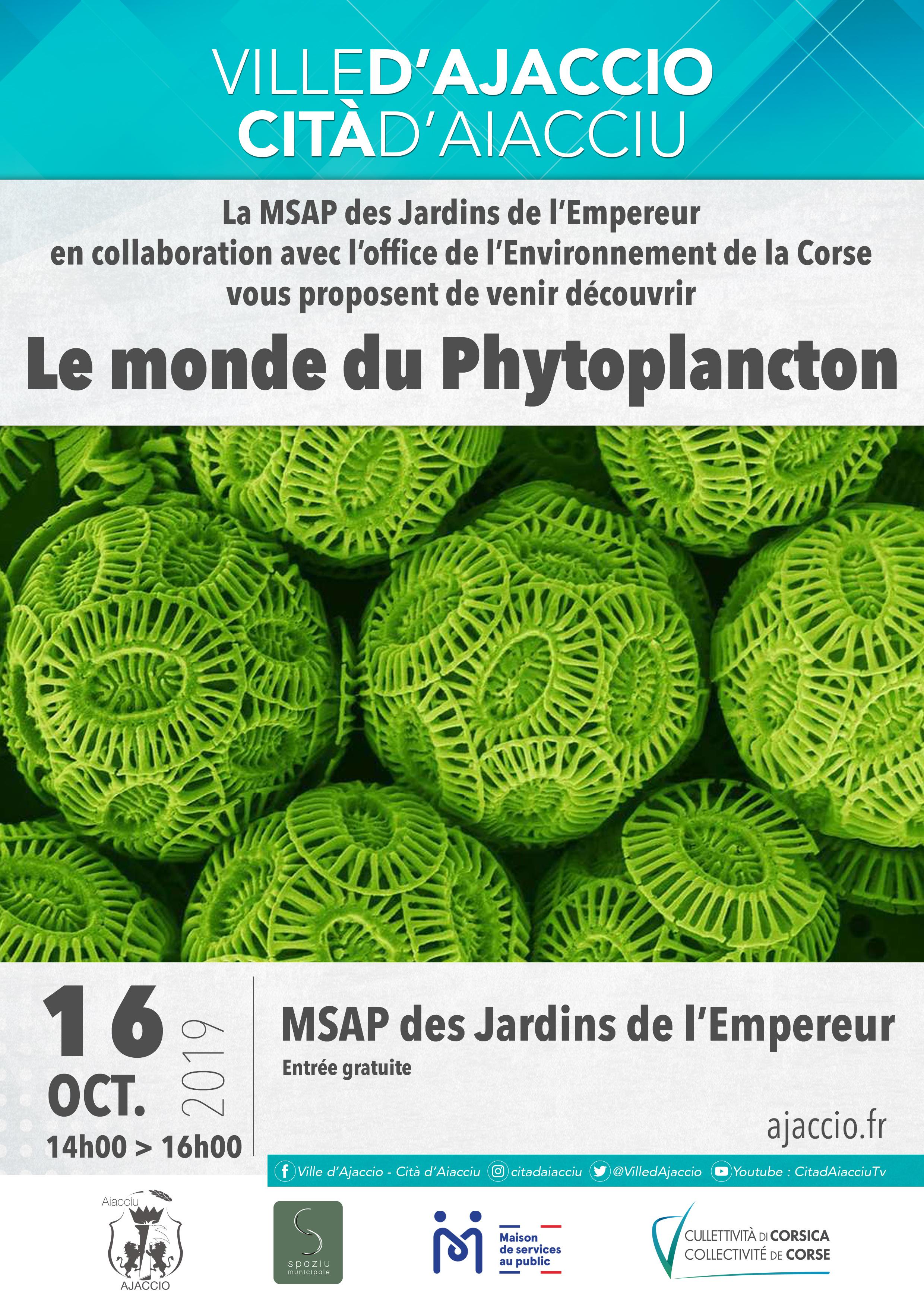 Conférence sur le Phytoplancton, le 16 octobre