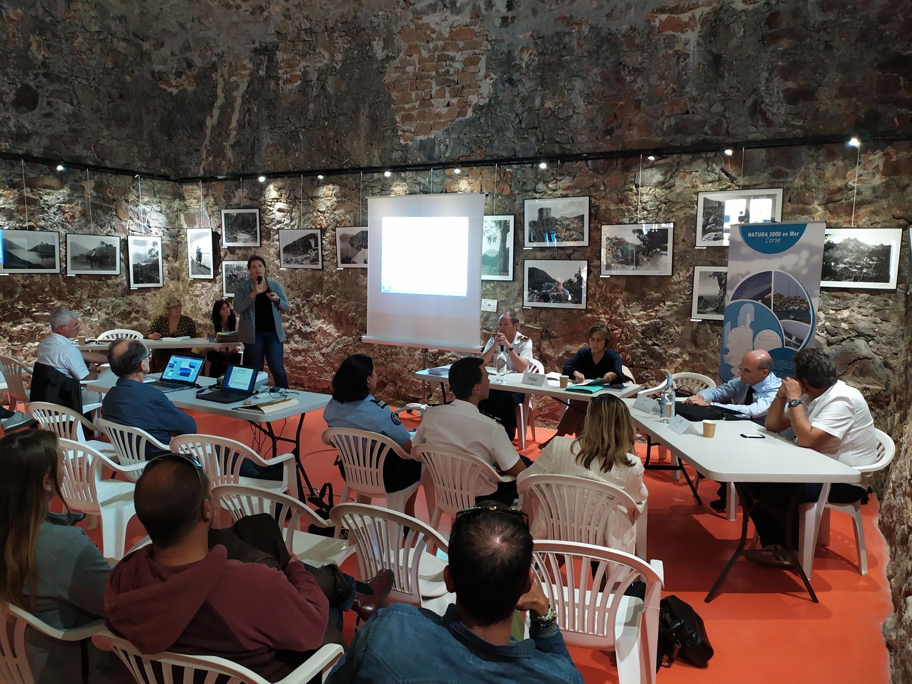 COPIL n°3 des sites Natura 2000 du secteur « Calvi - Carghjese » (Office du tourisme Intercommunal Ouest Corsica) - © J. Donini