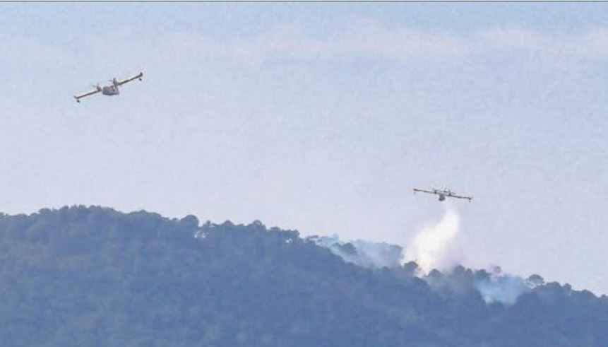 Ultime lutte contre le feu entre u Sulaghju et Bavella