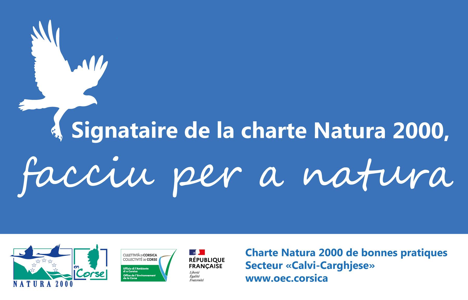 CHARTE NATURA 2000 DE BONNES PRATIQUES DU SECTEUR « CALVI - CARGHJESE »