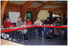 Les équipes des différents pôles relais réunis pour une réunion interpôle