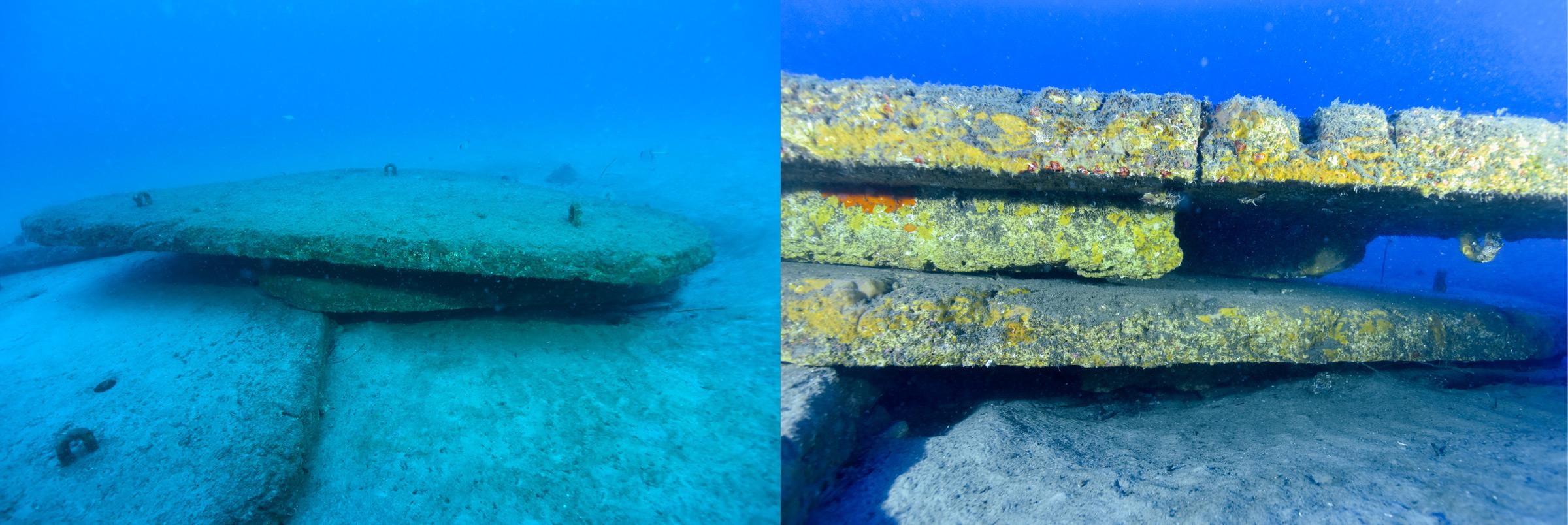 Récifs artificiels site Ricantu