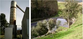 Traitement des gaz / Bassin lixiviats et récupération eau de ruissellement