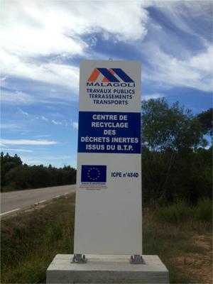 Centru di riciculera di i scarti stabbuli di u BTP