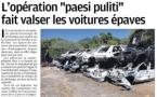 """L'opération """"paesi puliti"""" fait valser les voitures épaves"""