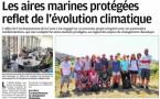 Les aires marines protégées reflet de l'évolution climatique