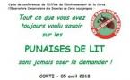Conférence du 5 avril sur les punaises de lit