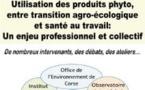 Séminaire  Utilisation des produits phyto, entre transition agro-écologique et santé au travail : Un enjeu professionnel et collectif