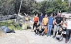 Les bénévoles font reculer la pollution à Suerta et Tragone