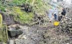 Una operata paisana hè stata organizata per smachjà a funtana sottana di e Valle