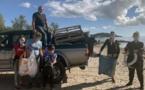 LECCI  Initiatives Océanes nettoie la plage de San Ciprianu