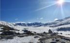 Le lac de Ninu gelé