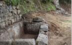 OLIVESE  La fontaine Petru Andria est réhabilitée