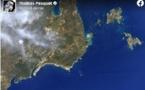 Thomas Pesquet photographie Bonifacio depuis l'espace