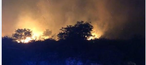 VIDEO - Felicetu : impressionnantes flammes dans la nuit